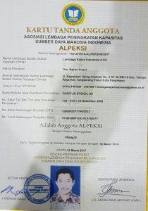 SK Alpeksi Lembaga Kajian Indonesia
